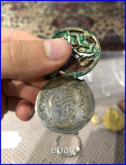 Fine Rare Enamel Cloisonné Portrait Miniature Photo Locket Pendant