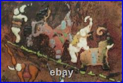 George De Nemes Enamel On Copper Painting Circus Hungarian Australian Artist