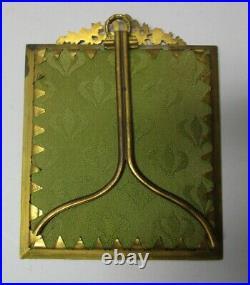 Gorgeous ART NOUVEAU Signed Enamel on Copper Plaque in Bronze Frame c. 1900