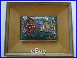 Gorgeous Enamel On Copper Painting Sculpture 1970 Pop Abstract Modernism Unique