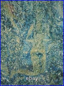 HUGE Enamel Copper MASTER Modern Abstract Painting Nudes Brutalist Lava Glaze