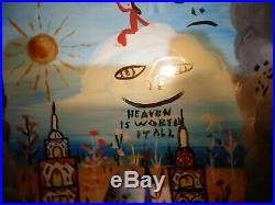 Howard Finster 1986 Enamel Painting Heavenly Homes Visions Of Otherworlds Framed
