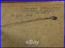 INGEBORG HIERONYMUS MACKINSTRY MALEREI KOMPOSITION ABSTRAKT EMAILLE 1974 enamel