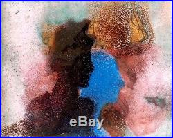 Ita Gertner Figures / Israeli Jewish Polish / Mixed Media in enamel Modern