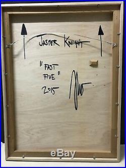 JASPER KNIGHT Fast Five Enamel on Perspex & Timber 102cm x 76cm FRAMED