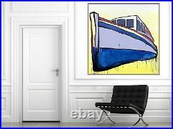 JASPER KNIGHT Valdura Enamel, Acrylic & Gesso On Canvas 150cm x 150cm FRAMED