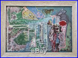 Jamaican Intuitive Art Painting by Leonard Daley Outsider Artist (1930-2006)
