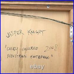Jasper Knight CANDY COLOURED PEDESTRIAN FOOTBRIDGE2008Enamel OnPerspex 90x90cm