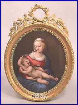 Johann Heinrich von Hurter 1787 For Catherine II Russia Enamel Raphael Madonna
