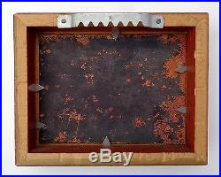 LOUIS CARDIN LISTED ARTIST ENAMEL ON COPPER SMALL 4 x 3 PAINTING LOT