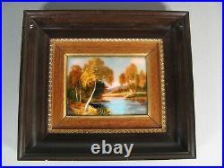 Landscape River Enamel Art Limoges Restoueix Best Worker de France