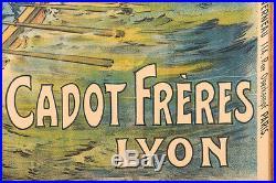 Le Pacific Enamel Paint Original Antique French poster c1900s