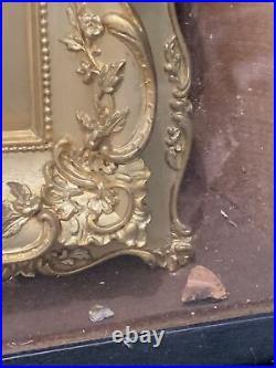 Limoges Enamel Framed Porcelain Plaque RENAUD Inside Shadow Box 12 X 11