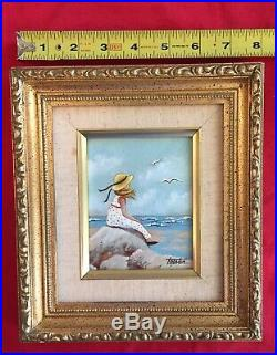 Lorraine Trester Enamel On Copper Framed Worth Ave. Gallery