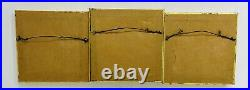 Lot Of (3)! Vintage JOHN SHAW Enamel on Copper Miniature Folk Art Painting