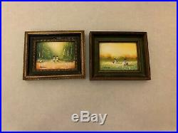 Lot of (2) Charles Parthesius American Enamel on Copper Framed Paintings