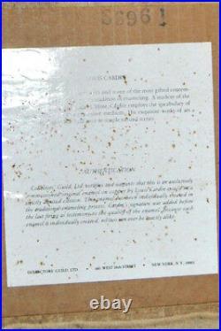 Louis Cardin Enamel On Copper 2 Paintings Original & Signed 1978 Framed COA