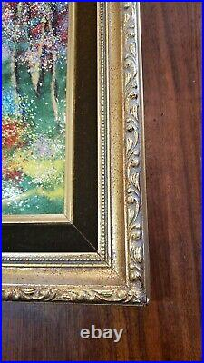 Louis Cardin Original Enamel On Copper Painting Framed, French Artist Free Ship