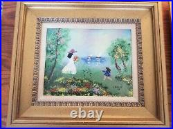 Louis Cardin Traditional Enamel on Copper Art 2 pc. Framed $529.99, circa 1978