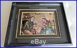 Lovely French Limoges Enamel Copper Pierre Bonnet hand painted enamel picture