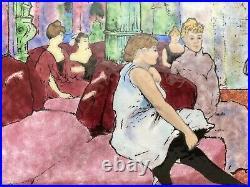 MCM Framed Enamel Plaque Toulouse Lautrec