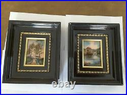 MICHEL BETOURNE Paintings. Enamel on Copper. French. Signed M. BETOURNE LIMOGES