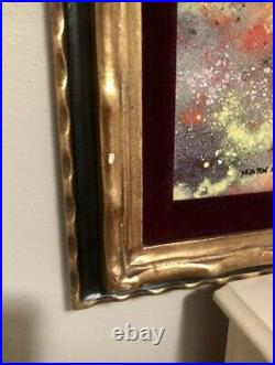 Mark Moses Enamel On Copper Painting