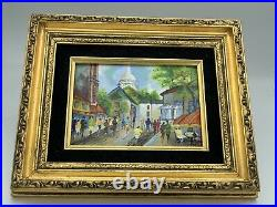 Masterpieces Genuine Oil Painting Cloisonne Style Enamel on Copper. Original