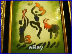 Max Karp, Enamel On Copper Picasso's Goat Dance $279