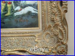 Max Karp Nativity Scene Enamel On Copper Plate Original Painting