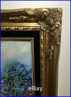 Mint Large Luis Cardin Enamel On Copper Painting 20 X 16, Framed