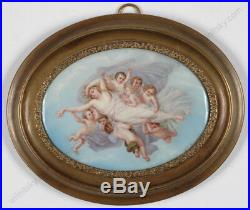 Mme Louise Lamuniere St. Catherine Carried by Angels, Large Enamel Miniature