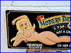 Modern Day Freak. 1 Shot Enamel, Hand Painted Fair Artist, Bespoke Top Quality