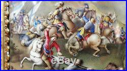 Museum Quality / Rare 19th French Enamel Painting of a Battle