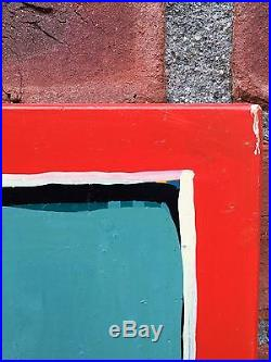 New York Artist Tom Burckhardt Abstract Minimalist Enamel Painting. Signed. 1992