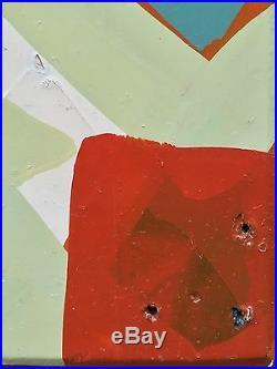 New York Artist Tom Burckhardt Signed Abstract Enamel Painting. 1992