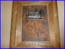 ORIGINAL Dominic Mingolla Enamel on Copper SCHOONER BOAT Scene FRAMED Nice