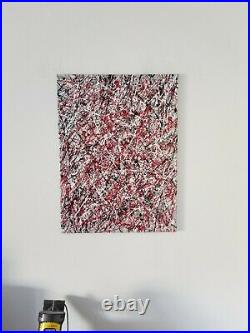 Original Abstract Action Painting Jackson Pollock style art paint wall decor