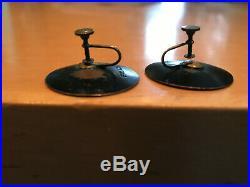 Original HAROLD BALAZS Signed Enamel/Steel vintage 1960s Mid Century earrings