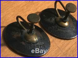 Original HAROLD BALAZS Signed Enamel on Steel vintage 1960s jewelry collection