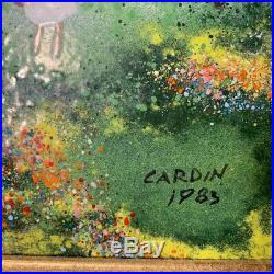 PAIR of ENAMEL ON COPPER Paintings By LOUIS CARDIN Signed and Dated