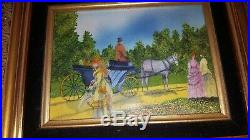 Painting Enamel On Copper George Seurat Impressionist Style Signed Belliard