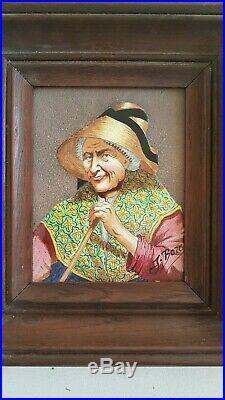 Painting ceramik on enamels signed. Peinture sur émaux signée J Borel 2