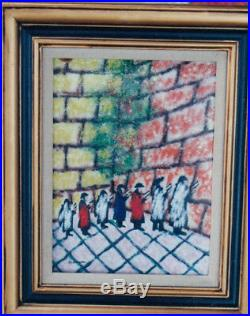 Perfect Hanukkah Gift Enamel Art by Rosenberg