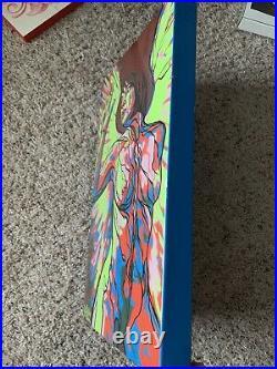 Phil Holt Original Enamel on Steel Painting Graffiti Art Tattoo Artist