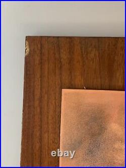 Rare Pair Judith Daner Enamel Copper Art Paintings Modern MID Century Plaques