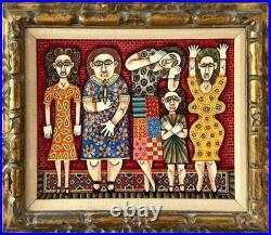 Rex Clawson, Lovely Women, Enamel on Wood, signed and dated l. R