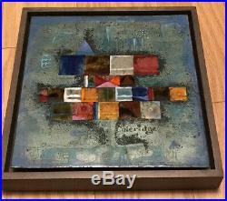 Risd School Student Enamel On Copper Framed Plaque Listed Artist Kay Whitcomb