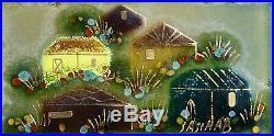 Sacsha Brastoff MCM Design 1950s Rare Enamel Painting on copper