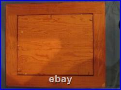 Salvador Mestre Modern Enamel Painted Copper Cloisonne Signed Inlayed Frame